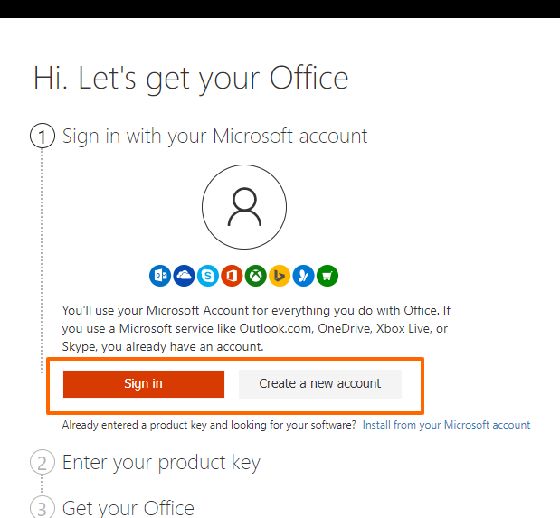 how to install ms office 2019 with product key